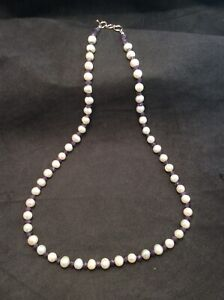 """Sterling Cultured Freshwater Pearls & Purple Amethyst Beaded Necklace 20.5"""""""
