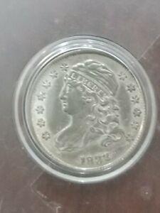 1832 CAPPED BUST DIME AU DETAILS