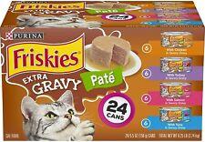Pate Wet Cat Food Variety Pack, Extra Gravy Pate Chicken, Turkey, Salmon & Tuna
