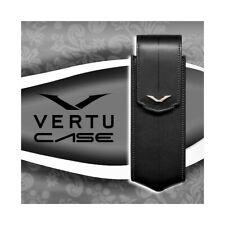 VERTICAL CASE BLACK LEATHER VERTU SIGNATURE S CUSTODIA COVER ORIGINAL ACCESSORIE