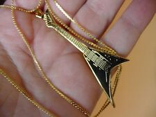 (M308-B) Black JACKSON RANDY RHOADS Guitar NECKLACE JEWELRY pendant guitars
