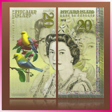 $20 Pitcairn Islands QEII POLYMER Test Private Fantasy banknote