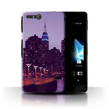 STUFF4 Back Case/Cover/Skin for Sony Xperia Go/ST27i/Purple Fashion