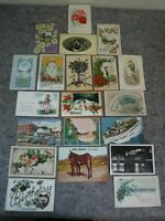 Lot of 20 Early Vintage Postcards