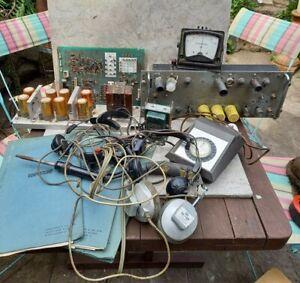 VINTAGE TV / RADIO ELECTRONICS - ENTHOVEN SOLDIERS - HEADPHONES - VALVE AMP +