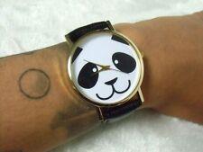 Montre fantaisie originale tête de panda face bracelet noir mignon cute kawaii