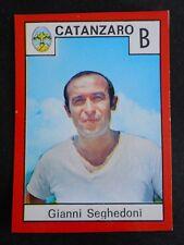 ***RELI' CALCIO 1970/71*** SEGHEDONI - ALLENATORE CATANZARO NUOVA DA BUSTINA !!!