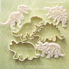 Dinosaur LARGE Cookie cutters with fossil stampers 6 pieces set. Dinosaurios