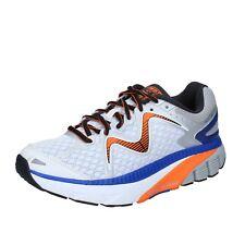 scarpe uomo MBT 42 EU sneakers blu bianco tessuto performance BS380-42