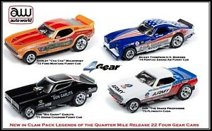 Auto World ~ NHRA Release 22 Legends 4 Car Set ~ New in Clam Pack ~ Fits AFX, AW