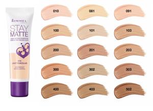 Rimmel stay Matte Liquid Mousse Foundation 30ml Sealed --Choose shade--