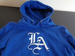 LOS ANGELES DODGERS Baseball Women's SMALL Hoodie Fanatics Sweatshirt MLB Blue