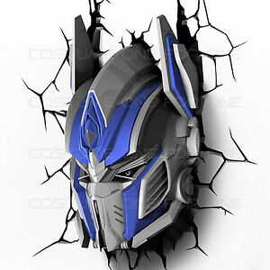 Transformers Optimus Prime 3D Deco Wall Light Room LED Nightlight X mas Gift Toy