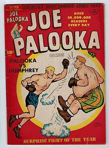JOE PALOOKA #17 4.0 1ST LITTLE MAX HARVEY OFF WHITE PAGES GOLDEN AGE