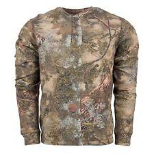 King's Camo Mountain Shadow Men's 2xl Cotton Long Sleeve Thermal Henley Kcb106ms
