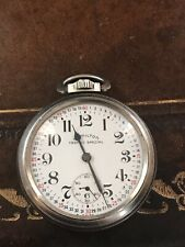 HAMILTON TRAFFIC SPECIAL Swiss Pocket Watch Montgomery Dial Rare Runs Well