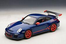 1/18 AutoArt PORSCHE 911 (997) GT3 RS 3.8 (Bleu / RED rayures) 2010