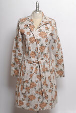 EUC Ben Sherman Women's Mod 60s inspired Canvas Rose Floral Trench Coat size S