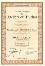 SA des Ateliers du Thiriau, accion, 1970 (Siege: Bois d' Haine, La Croyere)