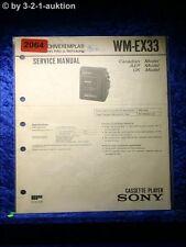 Sony Service Manual WM EX33 Cassette Player (#2064)
