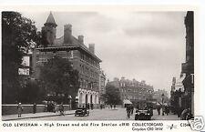 London Postcard - Old Lewisham - High Street & Old Fire Station c1910 - Ref V273