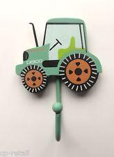 Green Tractor Boys Coat Hook Bedroom Door Nursery Hallway by Sass & Belle