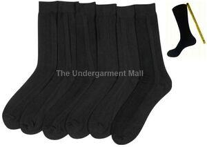 Men's Ribbed Dress Socks Black 6 pairs lot new casual fashion size 9-11 10-13