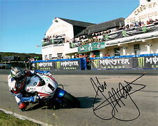 John McGuinness Isle of Man 2011 signed 16 x 12 Greg Ny Baa Picture & proof