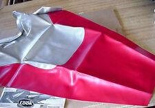 2005 HONDA VFR 'CUSTOM' SEAT COVER SKIN Red/Silver Carbon Fiber SECOND LOOK NIP