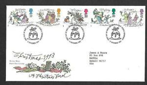 Great Britain Scott #1528-1532 Christmas 1993 Royal Mail FDC VF