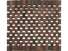 More details for creative tops dark slatted wood pack of 2 placemats/coasters