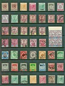 MALAYA States STAMP Collection VIC-QE Mint Used INC JOHORE KEDAH & others QV637a