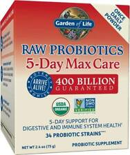 Raw Probiotics 5-Day Max Care by Garden of Life, 2.4 oz powder