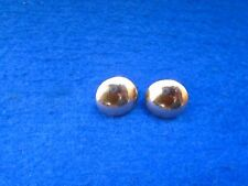PAIR OF QUEENS OWN HUSSARS 17MM HALF DOMED CHIN STRAP FORAGE/PARADE CAP BUTTONS