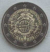 2 Euro Deutschland A 2012 10 Jahre Euro unz