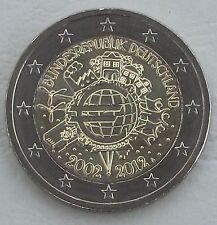 """2 Euro Deutschland A 2012 """"10 Jahre Euro"""" unz"""