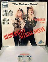 MADONNA DESPERATELY SEEKING SUSAN LASERDISC 1985 USA 1st ED. 35YRS OLD RARE OOP