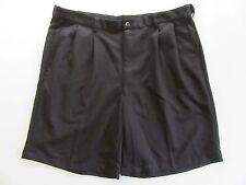 HAGGAR Mens Shorts 40 Black Pleated Bermuda Chino Summer Dress Pants