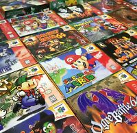 Nintendo 64 N64 Complete in Box CIB Video Games *Authentic* *Cleaned* *Tested*