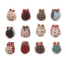 Retro Patchwork Owl Fridge Magnet Little Owl Lovers Gifts for Home