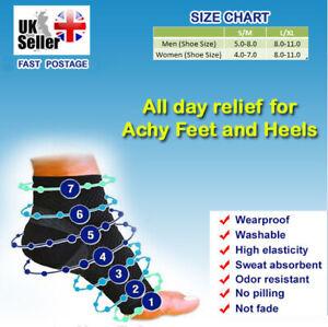 Pair of Compression Foot Pro Relieves Plantar Fasciitis Heel Pain Sleeves Socks