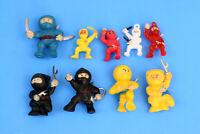 Lot of 9 Vending Machine Toy pvc Ninja Warrior Fighters Figure