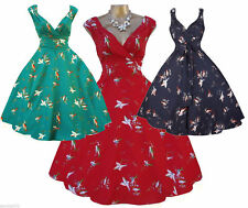 Women's Polyester Calf Length 50's, Rockabilly Party Dresses