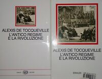 ALEXIS DE TOCQUEVILLE L'ANTICO REGIME E LA RIVOLUZIONE MILLENNI EINAUDI 1989