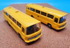 Wiking Models vintage 1:87 scale Mercedes O 302Deutsche Bundespost Bus TWO PACK