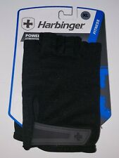 Harbinger Mens Power Weight Lifting Half Finger Gloves Adjustable Wrist size XL