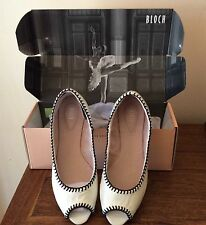 BLOCH Victoire Peep-Toe Leather Shoes Size 38 RRP $262.00 US Brand New