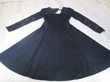 Boden Selena Lace Ponte black Dress sz UK 6R