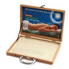 220V Bamboo SPA Hot Stone Heating Box Case For Loading 16Pcs Massage Heater