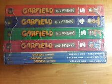 GARFIELD AND FRIENDS COMPLETE SERIES,1-5 DVD, FREE SHIPPING, NEW.